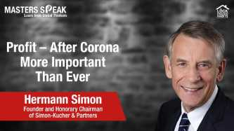 Masters Speak | Profit – After Corona More Important Than Ever with Hermann Simon